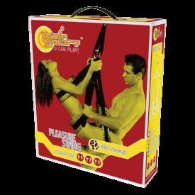 retail packaging for whipsmart pleasure swing in cheetah print