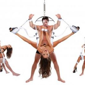 Fetish Bondage Swing shown in different positions